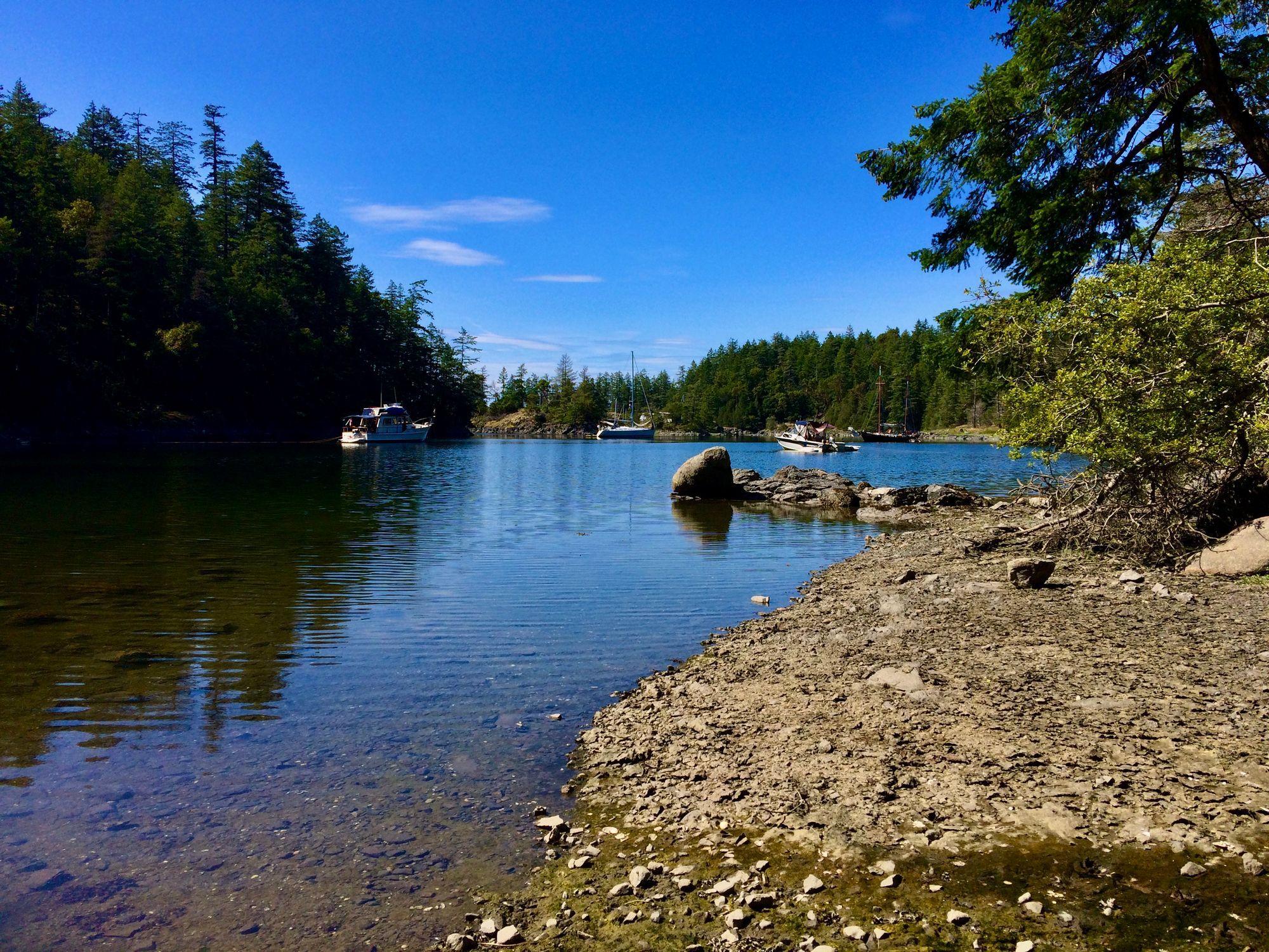 Postcard from Smuggler's Cove Marine Provincial Park